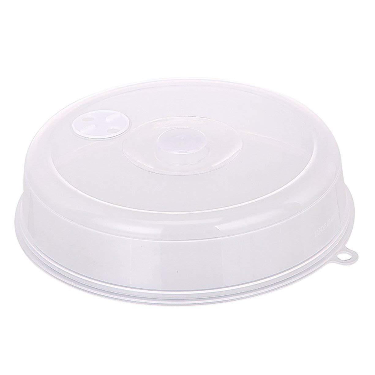 Cubierta de salpicadura de microondas, tapa de placa de microondas Tapa con orificios de vapor Cubierta de tazón de fuente fresca Cubierta de salpicadura de microondas apilable Cubierta de disco de sellado