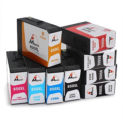 Preisvergleich Produktbild Mipelo Kompatibel Epson T8501 - T8509 Hohe Ergiebigkeit Druckerpatronen (Pigment Tinte), 9 Farben Kompatibel für Epson Surecolor SC-P800 Drucker