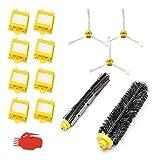 Smartide Kit de reemplazo de la serie 700 de Juego de accesorios de repuesto para la iRobot Roomba 700 Serie 720 750 760 770 776 780 Juego de cepillos de piezas Accesorios para iRobot Roomba Series
