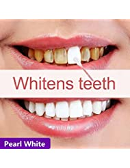 Teeth Whitening Powder by QHJ-100% Natural Teeth Whitener Kit (White)