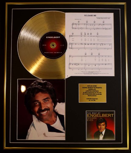ENGLEBERT HUMPERDINCK/CD GOLD DISC, SONG SHEET & PHOTO DISPLAY/LTD. EDITION/COA/ALBUM, SPANISH EYES /SONG SHEET, RELEASE ME
