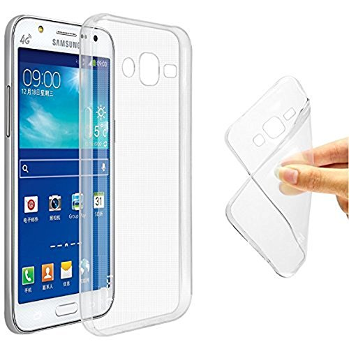 Accedere Premium Transparent clear white Silicon Flexible Soft TPU Slim Back Case Cover For Samsung Galaxy On5 Pro  available at amazon for Rs.99
