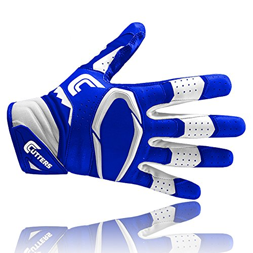 Cutters S451 REV PRO 2.0 American Football Receiver Handschuh, royal, Gr. 2XL