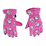 Gazechimp 1 Paar Winter Warm Anti Rutsch Handschuhe 2-4 Jahre, Kinder, Kinder Ski-Handschuhe - Rosa
