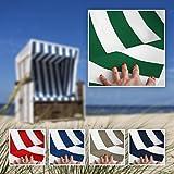 NOVELY Sunrise Oxford 420D Markisenstoff | Weiß Grün | Extrem reißfestes und dichtes Gewebe | UV-beständig | Polyester Stoff Outdoor Meterware Strandkorb Zeltstoff Wasserdicht