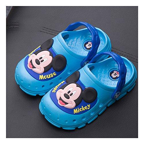Home & Style Kinder/Kinder/Jungen/Mädchen/Kinderferien/Sommer/Garten/Pool Clogs/Mules/Sandalen/Schuhe/Cartoon/Gute Größe -Elektrooptik blau 200