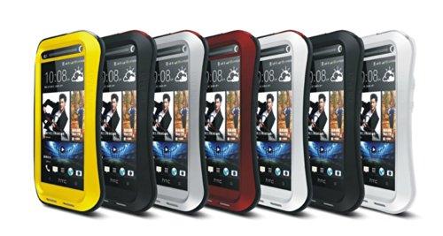 """BAMBOO - Apple iPhone 6 Plus 5.5"""" Étui Housse - Luxe Waistline Style Résistant Aux chocs Preuve Pluie Robuste Métal Cas Couverture Étui - Jaune Rouge"""
