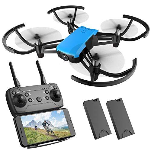 REDPAWZ R020 Mini Drohne mit Kamera RC Quadcopter WiFi FPV 2.4G Racing Drohne, Schwerkraftsensor Remote mit 720P HD-Übertragung Weitwinkelkamera RTF Headless-Modus Ideal für Anfänger (2 Batterie)