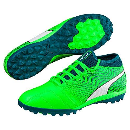 Puma One 18.3 TT, Größe:6, Farbe:Green Gecko White-Deep Lagoon (Neue Fußball Tt)