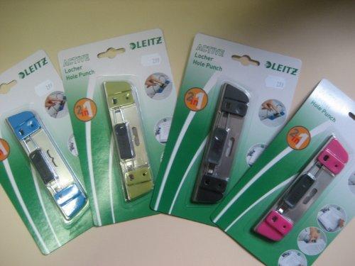 Leitz Active Locher 2 in 1 schwarz Blattniederhalter und Taschenlocher