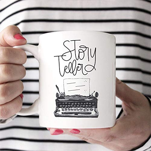 Gifts for Writers Story Teller Gift for Writer Man Author Mug Writers Gifts Typewriter Mug Funny Writer Mug Gift for Writer White-footed Mug
