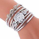 Montre Femmes,WINWINTOM Mesdames Bracelet Diamant Cercle Montre Bracelet Pour Montre Cercle De Table De Mode éTudiante Diamant Personnalisé Enrouler Autour Du (WH)