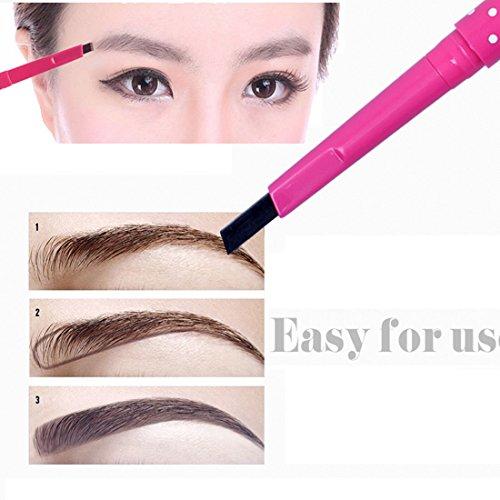 LQZ(TM) Crayon à sourcils Waterproof Rotation Automatique Yeux Maquillage Anti-transpiration Café Clair