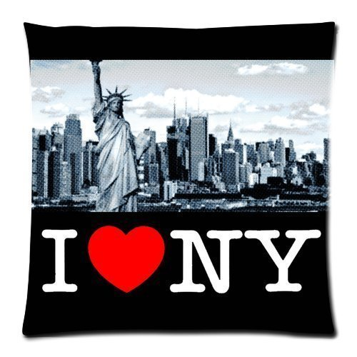 apnzll I Love NY New York City Statue of Liberty Custom Zippered Pillow Throw Pillow Covers 18