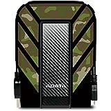 ADATA HD710M 1TB Robuste wasserdichte/ staubdichte/ stoßfeste USB3.0 Externe Festplatte, US Militäry Standard IP68 - Camouflage (AHD710M-1TU3-CCF)