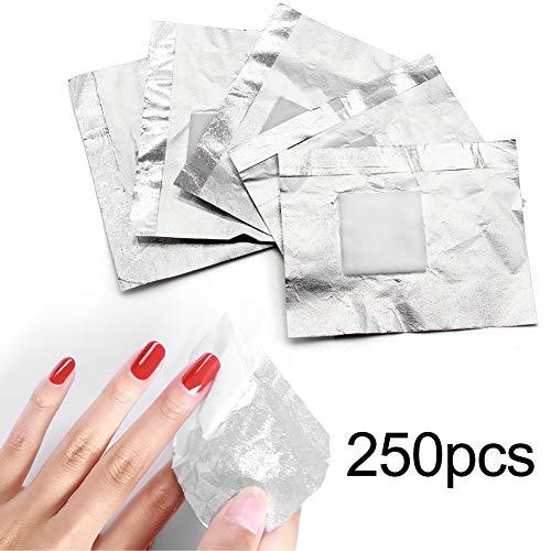 250 stücke Aluminium Nagel Folie Wraps Mit Großen Wattepad 1,23x1,23 Zoll, Nail art Maniküre Werkzeuge