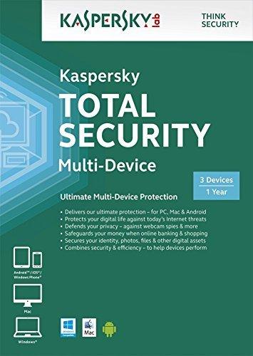 Kaspersky Total Security Multi Device 3 Device 1 Year (PC DVD/Mac)