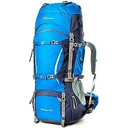 Mountaintop 70L+10L Mochila Trekking/ Mochila de Viaje/Mochilas de Marcha/Mochila Impermeable /Mochilas para deporte aire libre 5805III