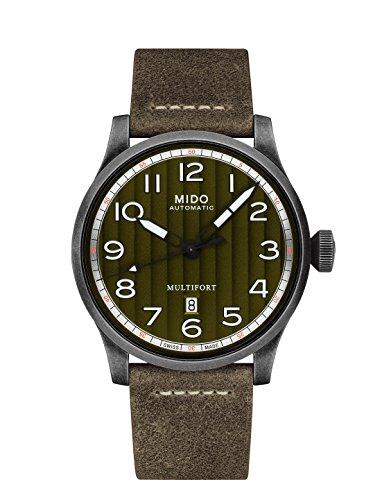 Mido Multifort grün-grau Zifferblatt automatische Herren Armbanduhr m032.607.36.090.00