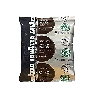 Lavazza Gran Filtro Italian Roast Ground Filter Coffee 30x64g Rainforest Alliance