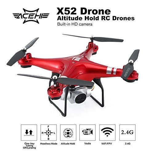 Peanutaso X52 RC FPV Aviones no tripulados 2MP HD