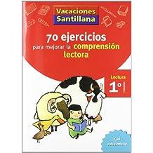 Vacaciónes Santillana, lectura, comprensión lectora, 1 Educación PriMaría. Cuaderno - 9788429407891