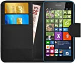 Microsoft Lumia 535 Hülle Leder Klapphülle mit Kartenfach