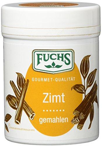 FUCHS Zimt gemahlen, warm-süßliches Zimtpulver für pikante und süße Gerichte (aromatisches Gewürz in Dose) Menge: 1 x 45 g