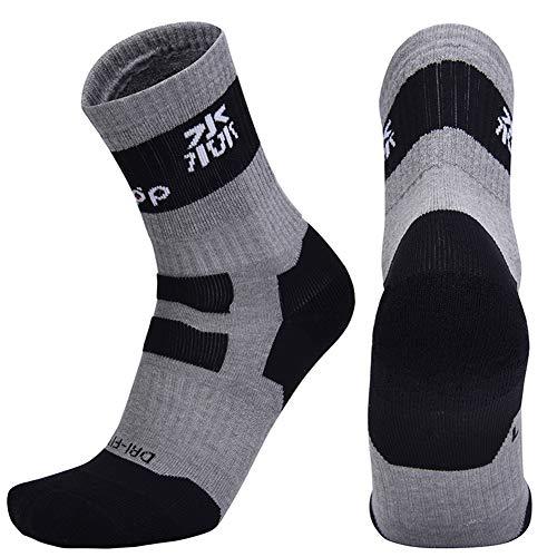 Momangel Erwachsener KinderSkateboard Basketball Farbblock Breathable mittlere Lange Socken Grey L