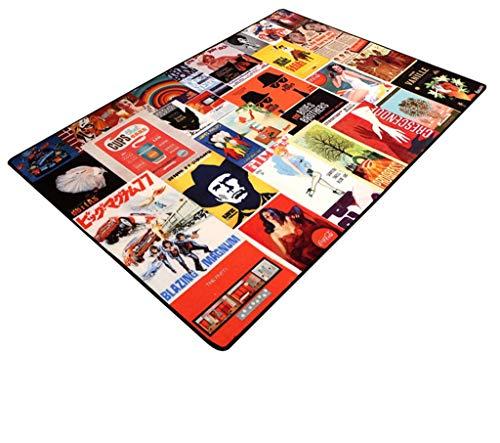 Teppich Rechteck Classic Vintage Nylon Schlafzimmer Wohnzimmer Muster Teppich (größe : 50 * 80cm)