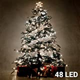 SIA LED Light Chain Battery 48Lights (OUTER + Inner) Cold White + Timer Timer Battery-Operated 8Functions