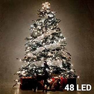 Sia Genérico – Luces de navidad blancas (48 led)