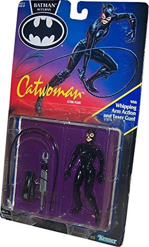 BATMAN RETURNS Movie Actionfigur CATWOMAN mit Whipping Arm Action und Taser Gun!