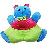 GoodStart Plush Teddy Shape Baby Sleeping Pillow/Baby Play Pillow/Baby Soft Toy Pillow With Baby Head Positioning Pillow Adjustment Made Of Velvet