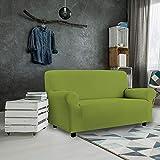 Petti, Artigiani Italiani - Copridivano Elasticizzato (2 Posti, Verde), Prodotto 100% Made in Italy Disponibile per Poltrone, divani a 2 posti, 3 posti e 4 posti. (Verde, 2 Posti (da 110 a 150 cm))