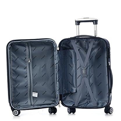 5140siDZs7L. SS416  - Ruedas gemelas 2066rígida Maleta Equipaje de viaje Maleta viaje para M de l de XL de Juego en 12colores, azul oscuro, extra-large