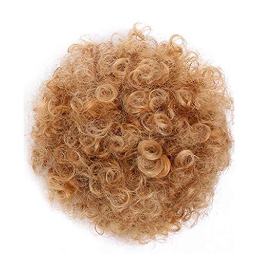 Zolimx Mode Hübsche Frau Mädchen Pferdeschwanz Inhaber Haarteil Afro Hauch Perücke Haar Ring (Pop Haarteile)
