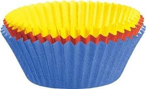 Kaiser 2300646299 Muffin World 80 Maxi-Muffin-Papierbackförmchen, 8,5 cm, farbig sortiert