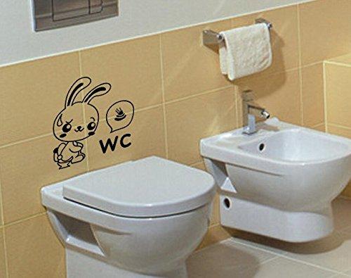 Ihrkleid adesivo da parete per bagno decorazione per wc nero