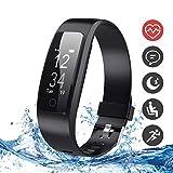 Runme Fitness-Tracker, Aktivitätstracker mit Herzfrequenz und Schlaf-Monitor, Smart-Fitness-Uhr mit Schritt- und Kalorienzähler, GPS-Tracker, IP67 Wasserdichtes Sportarmband für Android/iOS Smartphone