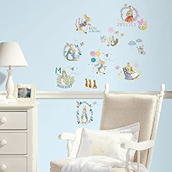 RoomMates Peter Rabbit And Friends Wall Sticker, Multi Colour