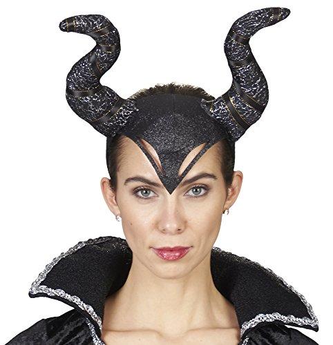 Haarreif Böse Königin - perfekt zum Teufelin, Dunkle Fee oder Böse Königin Kostüm an Halloween, Fasching, Motto Party oder Karneval