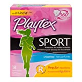 Playtex Sport Tampons with Flex-Fit Technology, Regular, Unscented - 18 Count by Playtex