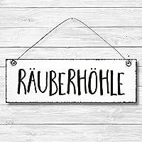 Räuberhöhle - Dekoschild Türschild Wandschild Holz Deko Schild 10x30cm Holzdeko Holzbild Deko Schild Geschenk Mitbringsel Geburtstag