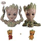 Bébé Groot Cartoon Flower Pot Jardin Ornement Aankho La Galaxie Vert Plantes Pot De Fleurs Cadeaux De Noël pour Les Enfants 2 Paquet