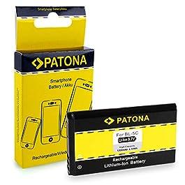 PATONA Battery BL-5C 1200mAh for Nokia 100 1100 1200 1209 1600 1800 2270 2280 2300 2310 2323 2330 2600 2626 2710 3100 3120