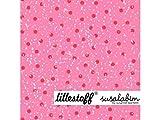 Lillestoff Wichtelpunkte pink rot Kombistoff Susalabim Bio
