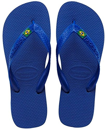 Havaianas Brasil Logo, Infradito, Unisex-adulto, Blu (Marine Blue), 45/46 EU (43/44 BR)