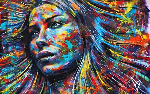 3d wallpaper benutzerdefinierte größe fototapete farbige schönheit kopf bild wohnzimmer sofa tv mural tapete für wand 3d-350X250CM