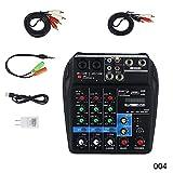 Acutty Mini USB Audio Mixer Verstärker Verstärker Bluetooth Board 48V Phantomspeisung 4 Kanäle für DJ-Karaoke